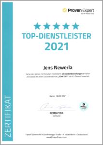 Newerla Top Dienstleister Auszeichnung